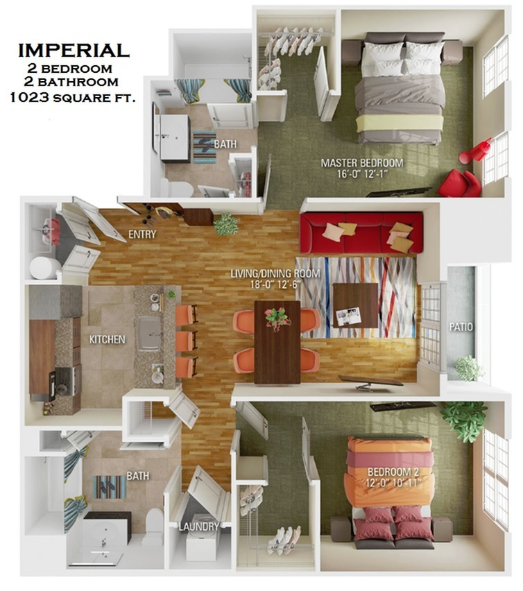 Imperial floorplan