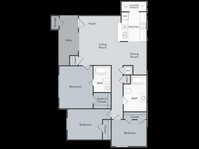 3 Bedroom Apartment Conway AR