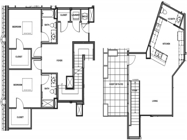 2 Bed Penthouse