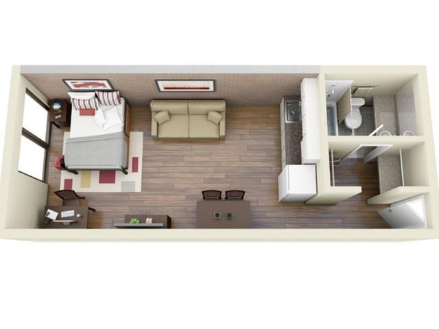 Large Main Kitchen 3D Floor Plan