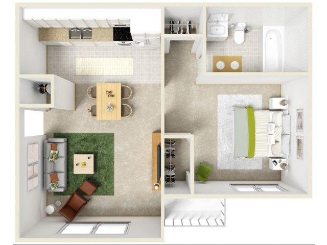bed 1 bath apartment in dalton ga park canyon