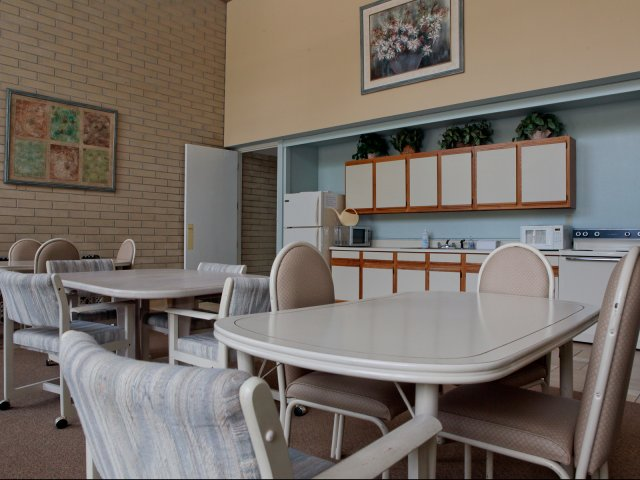 Image of Recreation Room overlooking the pool area for Lakeshore Towers