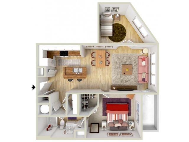 1 Bed 1 Bath Apartment In Birmingham Al 4700 Colonnade