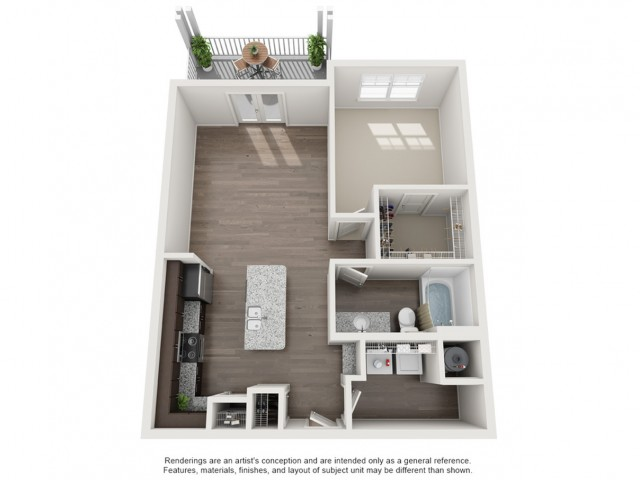 One Bedroom / One Bath - 799 Sq Ft