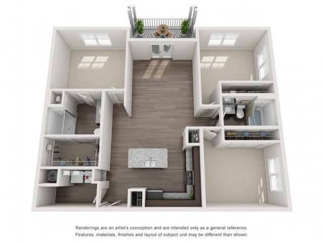 Three Bedroom / Two Bath - 1357 Sq Ft