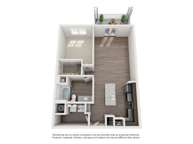 One Bedroom / One Bath - 884 Sq Ft