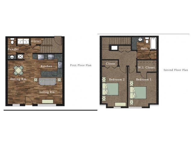 All|Floor Plans2 Bedroom 1.5 Bath Townhome