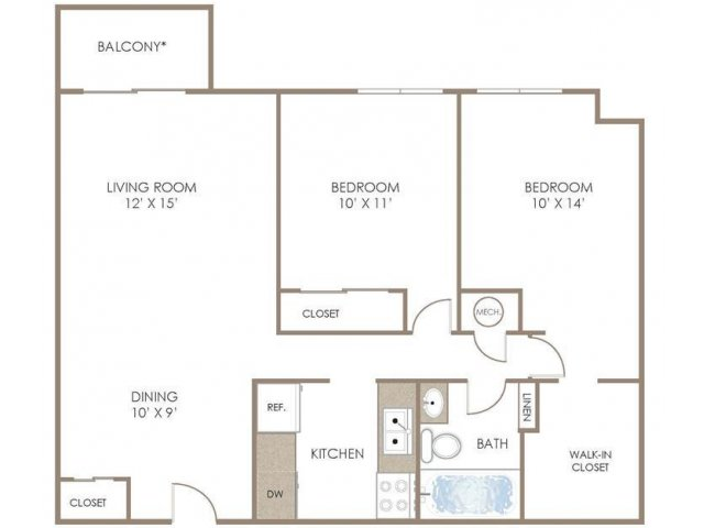 1 4 Bed Apartments Briarcliff At West Hills