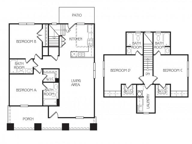 Floor Plan 1 | The Retreat at Starkville