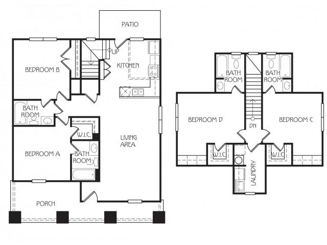 Floor Plan 3 | The Retreat at Starkville