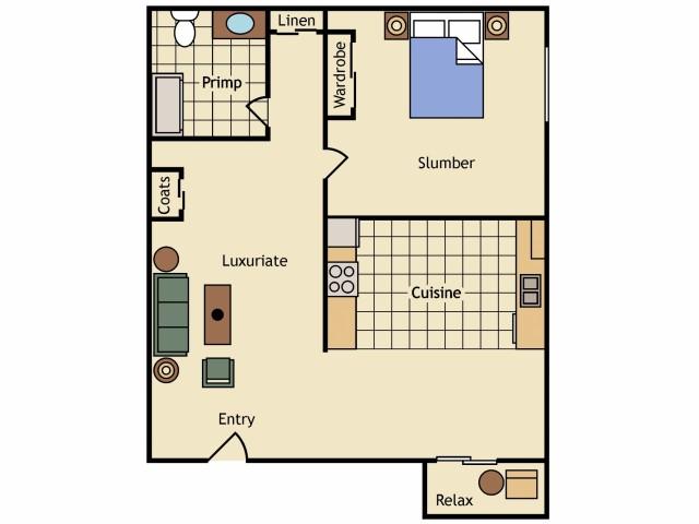 1 Bedroom & 1 Bath