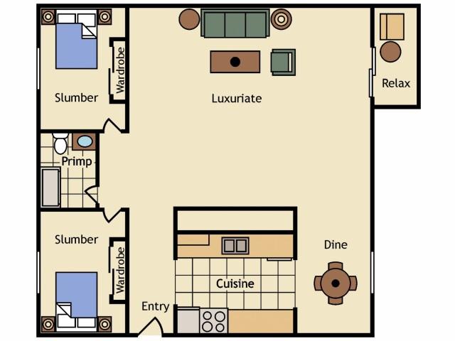 2 Bedroom & 1 Bath