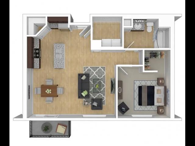 1 Bedroom Large Floor Plan