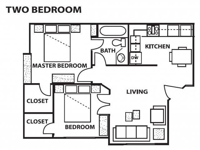 2 Bed 1 Bath Apartment In Albuquerque Nm Cinnamon Tree