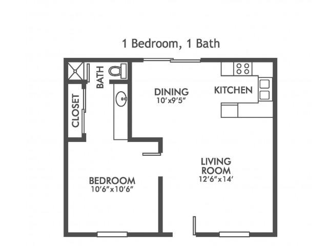 Velocity at Montecito - 1-Bedroom