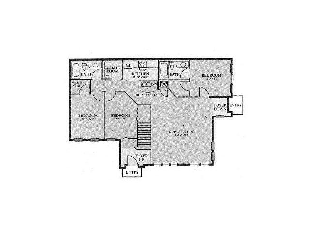 Orlando Apartments | 3 Bedroom Floorplan