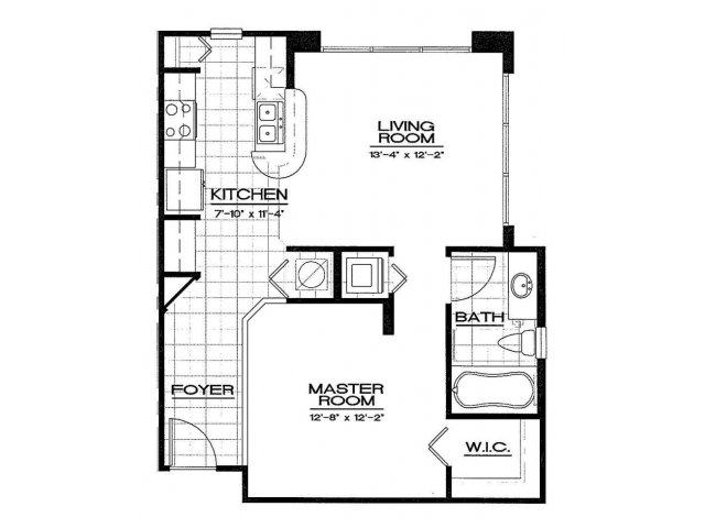 One Bedroom Floorplan | Aqua at Millenia 2