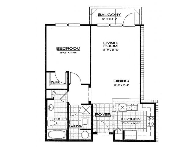 One Bedroom Floorplan | Aqua at Millenia 3