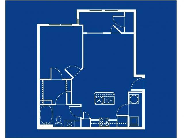 Floor Plan 2 | Apartments In Austin Tx | Villages at Turtle Rock