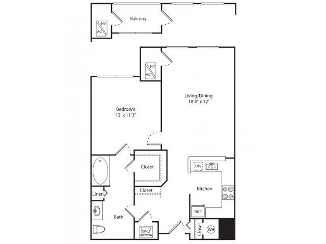 Floor Plan 1 | New Brunswick Apartment | Plaza Square Apartment Homes