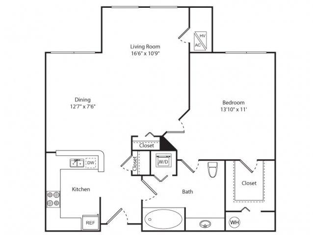 Floor Plan 3 | Apartments For Rent New Brunswick NJ | Plaza Square Apartment Homes