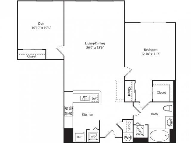 Floor Plan 4 | Luxury Apartments New Brunswick NJ | Plaza Square Apartment Homes