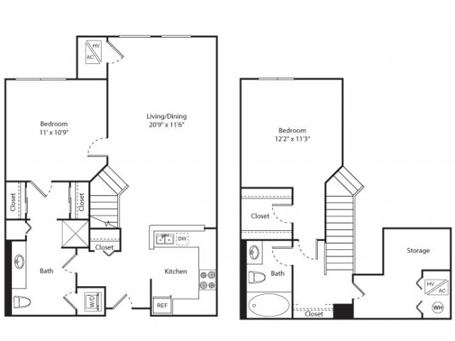 Floor Plan 12 | Apartment New Brunswick NJ | Plaza Square Apartment Homes