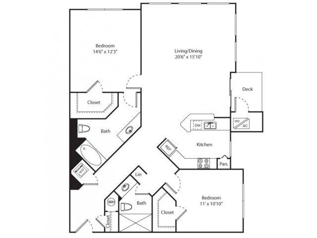 Floor Plan 7 | New Brunswick Apartments | Plaza Square Apartment Homes