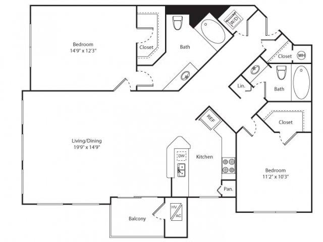 Floor Plan 11 | New Brunswick Apartment | Plaza Square Apartment Homes