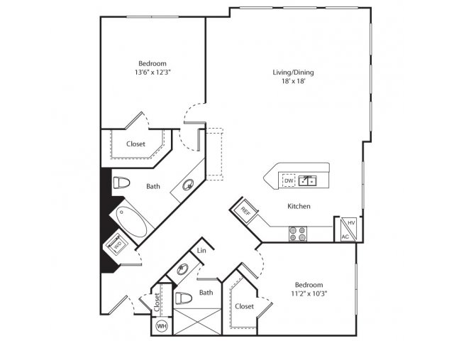 Floor Plan 8 | Apartment In New Brunswick NJ | Plaza Square Apartment Homes