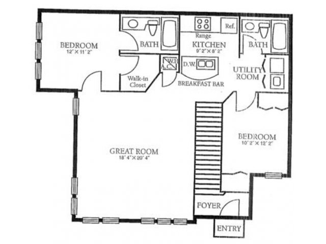 Orlando Apartments | 2 Bedroom Floorplan