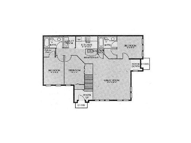 Apartments In Orlando | 3 Bedroom Floorplan