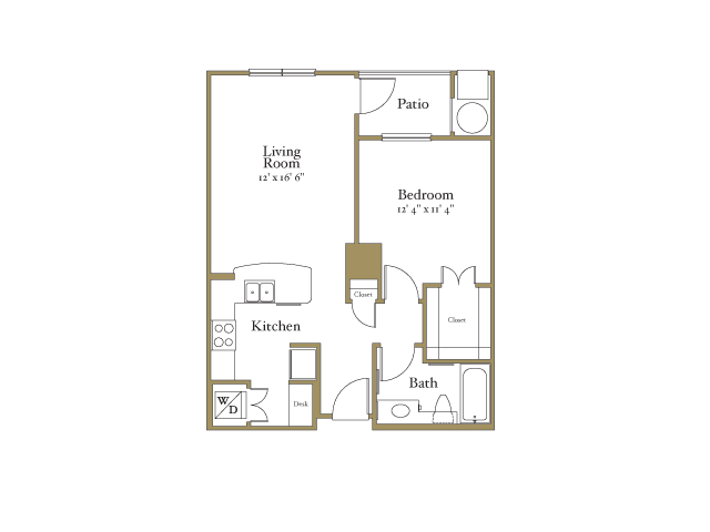 One Bedroom Floor Plans | Apartments In Raleigh NC | NorthCity 6