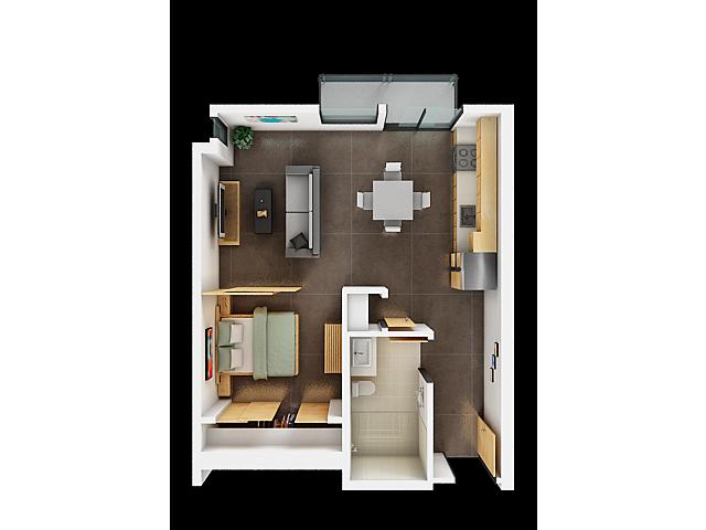 One Bedroom Floor Plan | Apartments For Rent In San Francisco 1