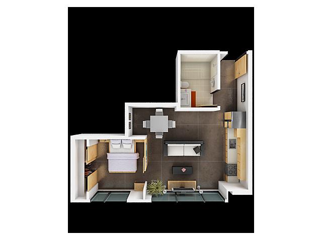 One Bedroom Floor Plan | San Francisco Apartments For Rent 2