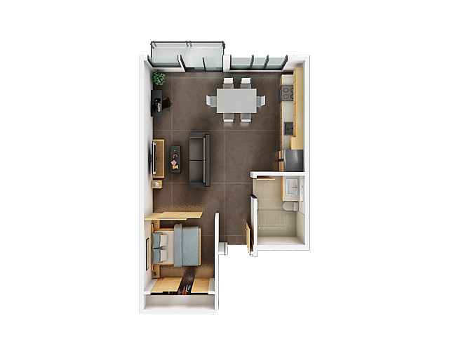 One Bedroom Floor Plan | Apartments San Francisco 3