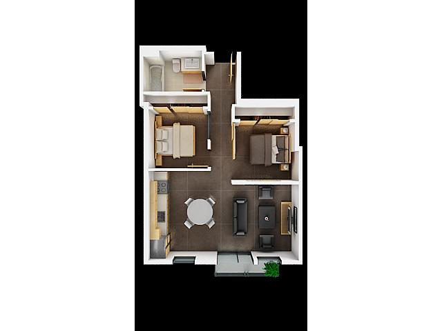 Two Bedroom Floor Plan | Apartments In San Francisco