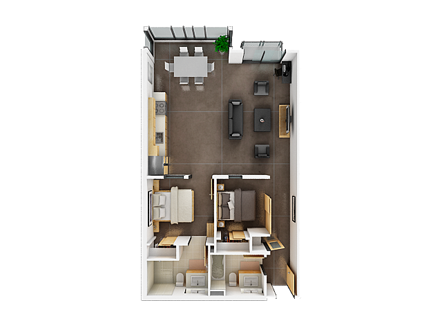 Two Bedroom Floor Plan | Apartments For Rent San Francisco 4