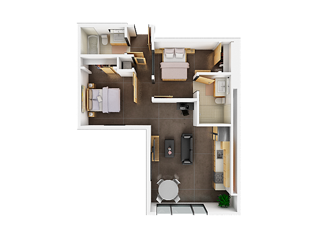 Two Bedroom Floor Plan | Apartments For Rent San Francisco Bay Area5