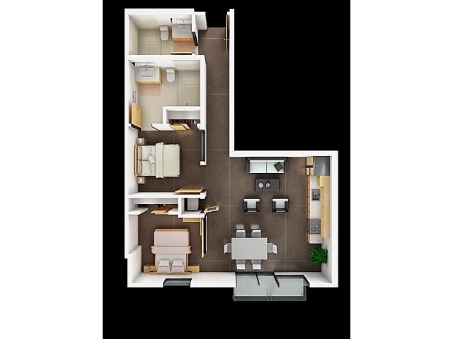 Two Bedroom Floor Plan | Apartments For Rent In San Francisco Ca