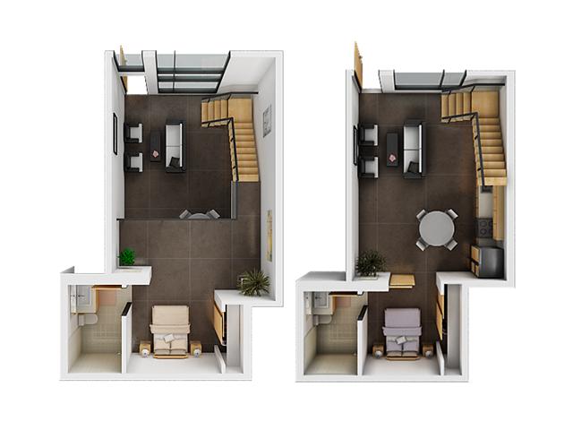 Two Bedroom Floor Plan | San Francisco Luxury Apartments