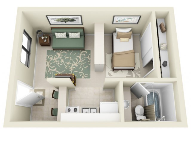 Studio Floor Plan | La Vista 1