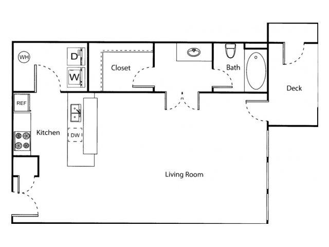 Studio Floorplan | The Bluffs