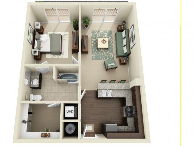 One Bedroom 3   927 West Morgan