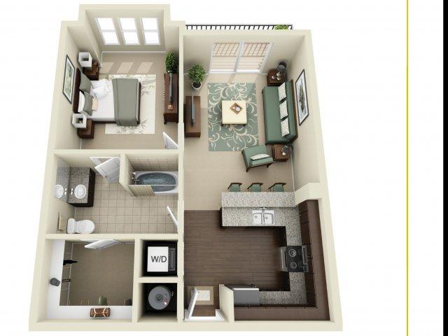 One Bedroom 4   927 West Morgan