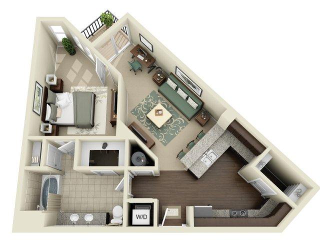 One Bedroom 7   927 West Morgan