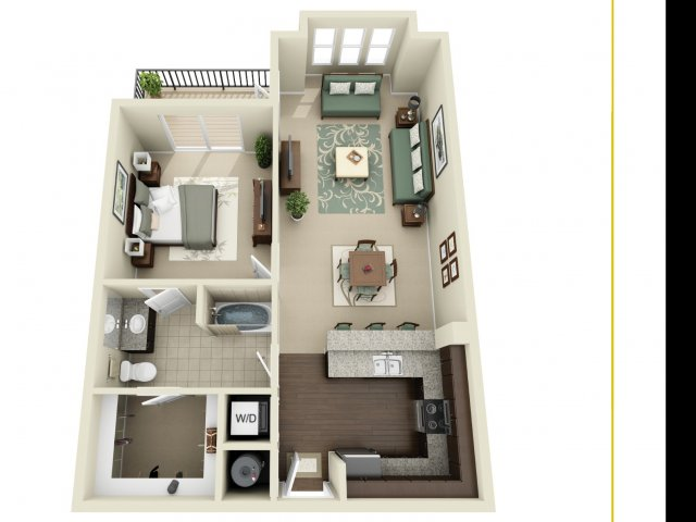 One Bedroom 6   927 West Morgan