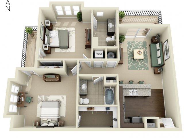Two Bedroom 3   927 West Morgan