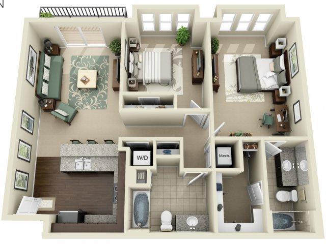 Two Bedroom 2   927 West Morgan