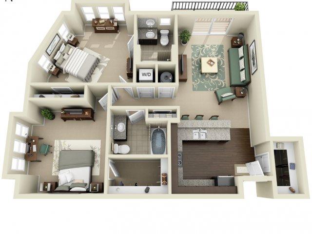 Two Bedroom   927 West Morgan